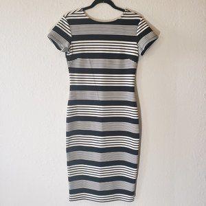 Felicity & Coco Stripe Short Slve Dress Sz M NWOT